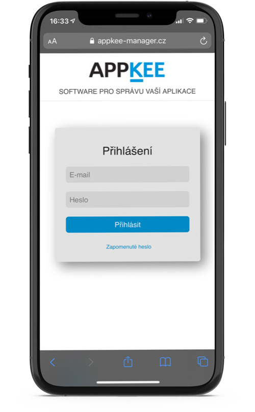 mobilní aplikace APP manager