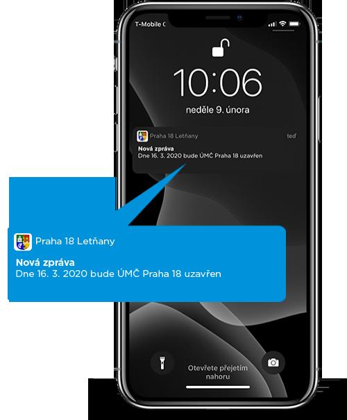 Posílání krizových notifikací